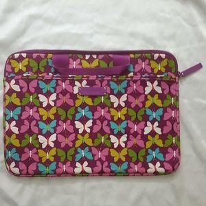 Vera Bradley Butterfly Neoprene Laptop Case